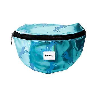 Spiral Blue Unicorns Bum Bag