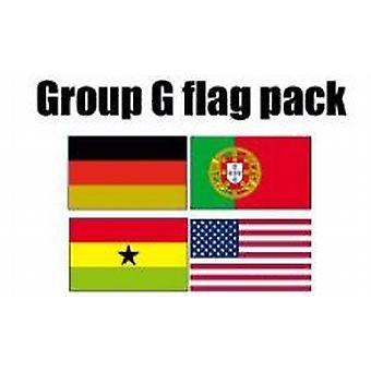 Gruppe G Football World Cup 2014 Flag Pack (5 ft x 3 ft)
