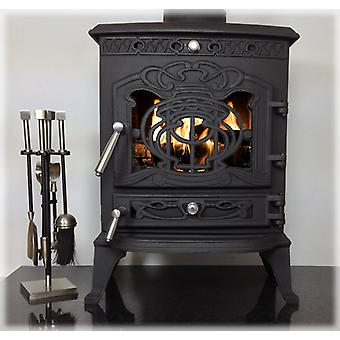 CASTMASTER Juliette Log Wood Burner Multifuel Cast Iron Stove 6.7kw