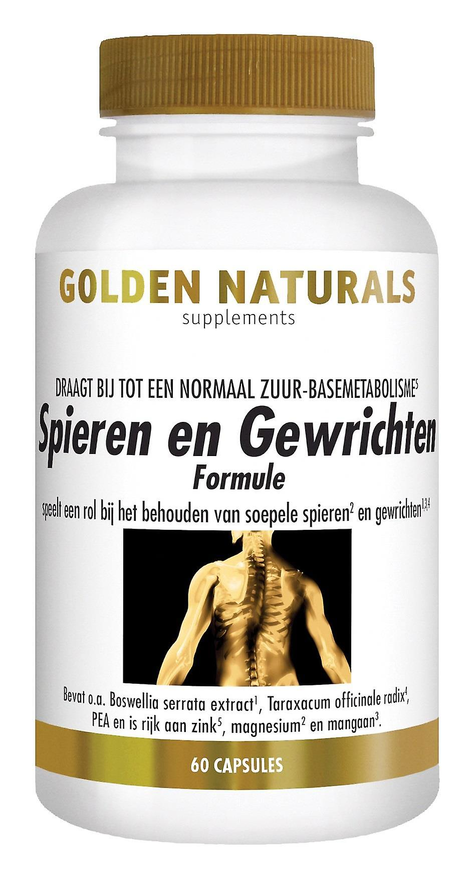 Golden Naturals Muscles & joints (60 capsules)