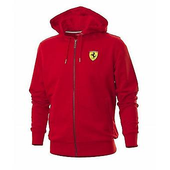 Ferrari Mens Hooded Sweat Jacket Black XS