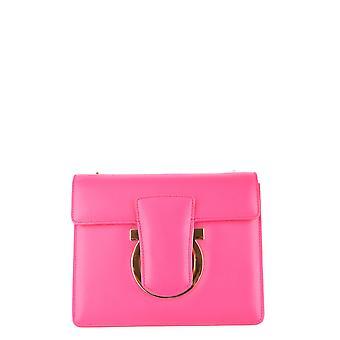 Salvatore Ferragamo Pink Leather Shoulder Bag