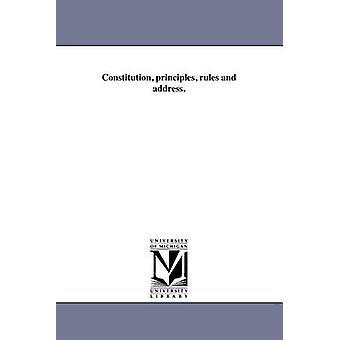 Forfatningen principper regler og adresse. af presbyterianske kirke i USA slægter
