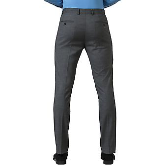 Avail London Mens Grey Suit Trousers Slim Fit