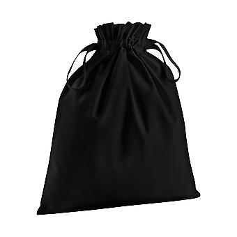 Westford Mill Soft Organic Cotton Drawcord Bag (Pack of 2)