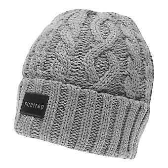 Firetrap Mens Cable Beanie Winter Hat