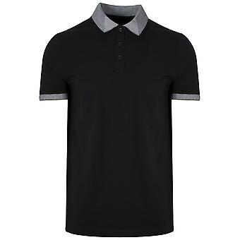 Michael Kors  Michael Kors Contrast Collar Black Polo Shirt