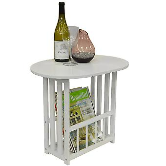 Haughton - Swivel Top Side / End Table With Storage Rack - White