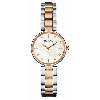 Bulova Womens Two Tone Mother Of Pearl Dial 98S147 Watch