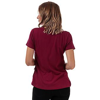Womens Brave Soul Ruffle T-Shirt In Sangria