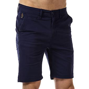 Mens Luke 1977 Corbite Chino Shorts In Navy