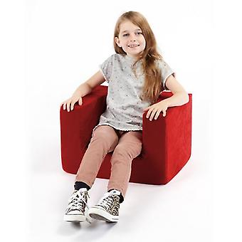 Children's Red Comfy Foam Arm Chair