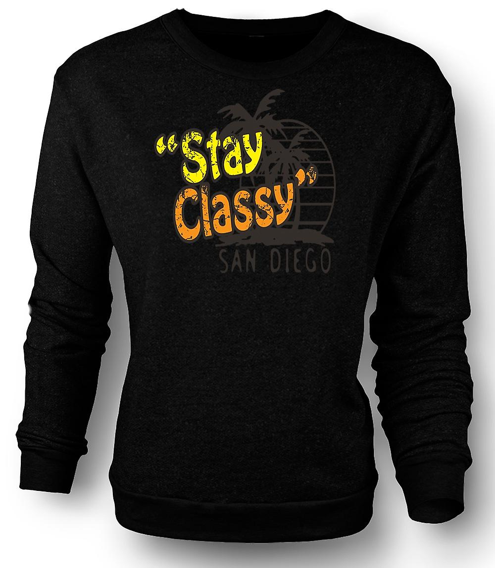 Mens Sweatshirt übernachten stilvoll San Diego - lustig
