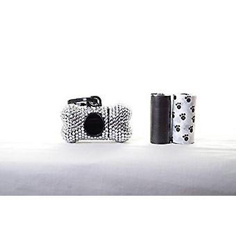 Sølv krystal Rhinsten ben formet affald pose Dispenser