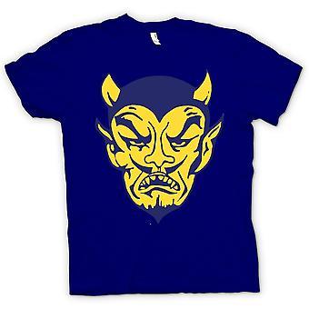 レディース t シャツ - 悪魔の顔 - おかしい