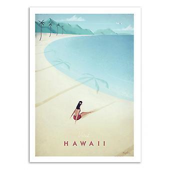 Art-poster-besök Hawaii-Henry Rivers 50 x 70 cm