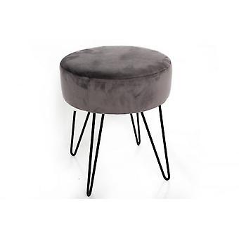 35 x 40 grau samt Runde Hocker Beinstütze mit Metalldraht Beine