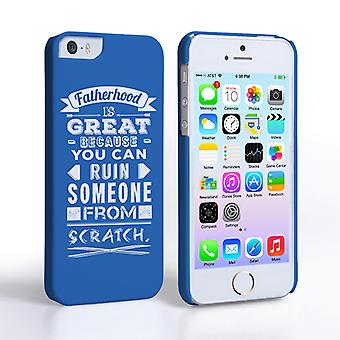 Caseflex Fatherhood Funny Quote iPhone 5 5S Case – Blue