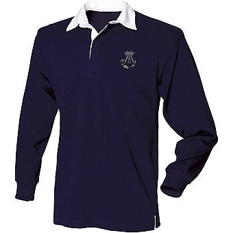 Somerset And Cornwall Light Infantry - Licensed British Army Embroidered Long Sleeve Rugby Shirt