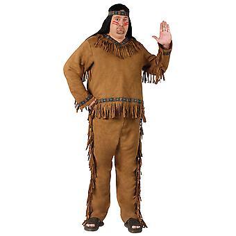 Native American Indian ädel krigare Cherokee västerländska män kostym Plus Size