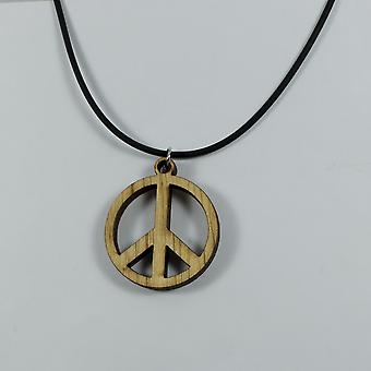 Peace necklace - wood