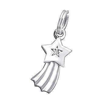 Shooting Star - 925 Sterling zilveren bedels met Split ring - W29176X