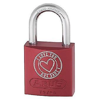 ABUS aluminium låse Mm 40 72/40 farge hjertet kjærlighet B (DIY, maskinvare)