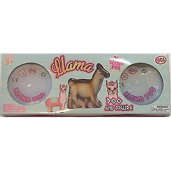 Llama Glitter Poo and Figure Set