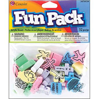 Fun Pack Christian Beads ?Mm ? Pkg ? Color 34734134