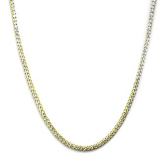 Collar del Faraón 18k Gold plated CZ redondo corte 4mm