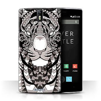 STUFF4 Case/Cover voor OnePlus One/Tiger-Mono/Azteekse dier