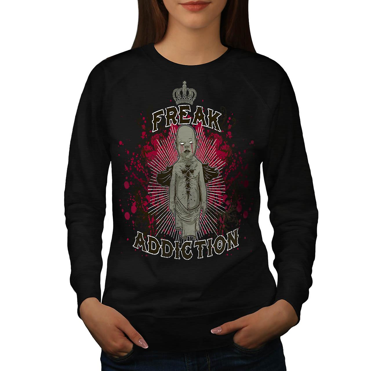 Freak Royal Addiction fantôme bébé femme Black Sweatshirt | Wellcoda