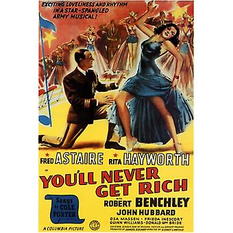 du vil aldrig få rige Movie plakat Print (27 x 40)