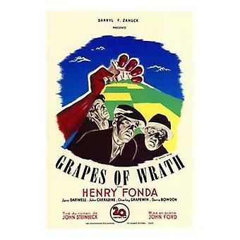 Las uvas de la ira Movie Poster (11 x 17)