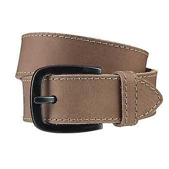 BERND GÖTZ belts men's belts leather belt sludge/beige 3717