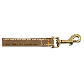 Timberwolf Leather Lead Sable 19mm X1m