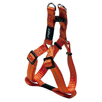 Rogz Nitelife Reflective Nylon Step-in Harness Orange 11mm