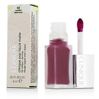 Clinique Pop Liquid Matte Lip Colour + Primer - # 03 Candied Apple Pop - 6ml/0.2oz
