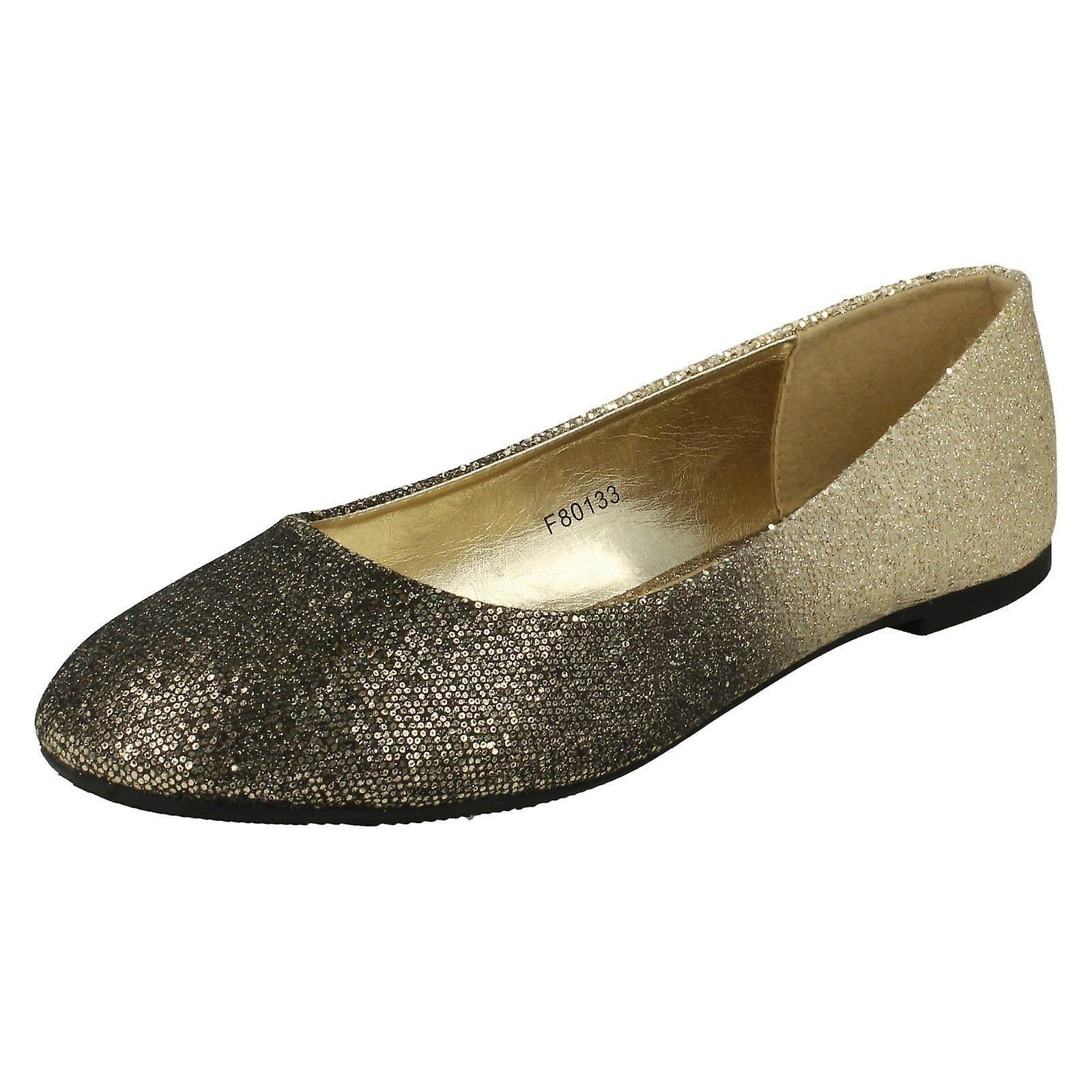Damen-Spot auf Slip-On-Ballerina Schuhe F80133