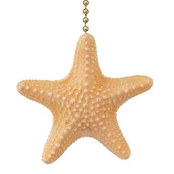 Coastal Beach Treasure Armoured Starfish Ceiling Fan Pull or Light Pull Chain