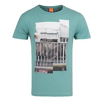 BOSS Orange Tonight Sea Green Palm Print Crew Neck T-Shirt