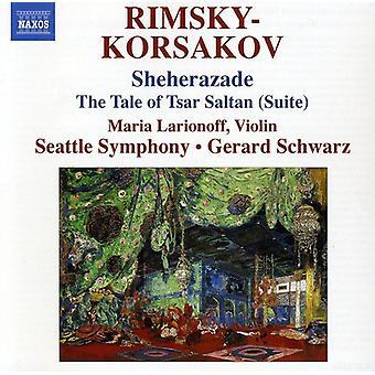 N. Rimsky-Korsakov - Rimsky-Korsakov: Sheherazade; the Tale of Tsar Saltan (Suite) [CD] USA import