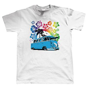 Split Screen Hawaii T Shirt - Vee Dub Camper Van Surfing