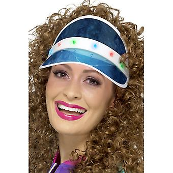 80's sun visor sunshade blue Womens costume