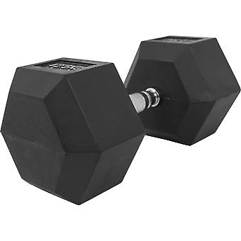Hexagon Kurzhantel Gummi 42,5 kg