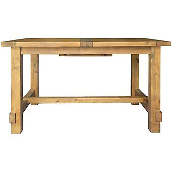 Classic Camrose Reclaimed Medium Sized Pine Extending Dining Table