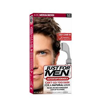 Just For Men 3 X Just For Men AutoStop Foolproof Haircolour Medium Brown (A35)