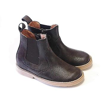 Froddo Brown Shimmer Leather Chelsea Boots
