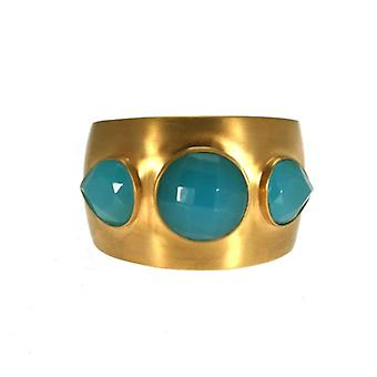 W.A.T Gold Plated Satin Finish Phoniex Cuff By Lucas Jack
