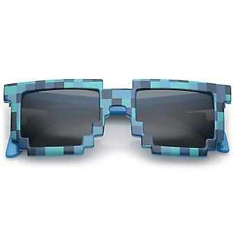 Retro Neuheit pixelig Print Square Sonnenbrillen mit Quadrat Objektiv 50mm